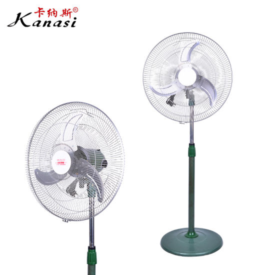 Round Post Base Telescopic Pole 18 Inch Industrial Stand Fan