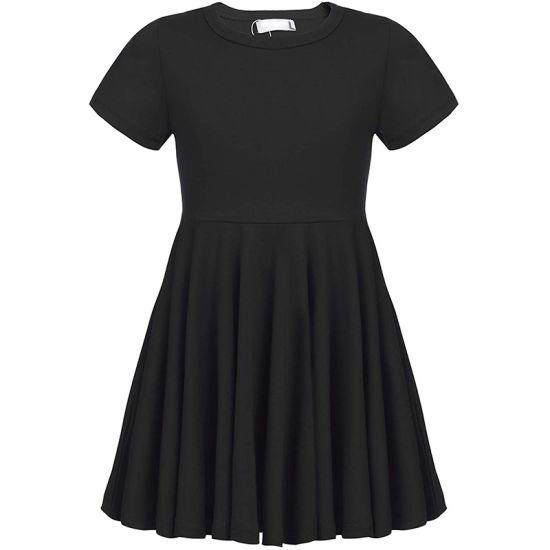 China The Right Price Girl Dress Short Sleeve Hem Dress For Girls