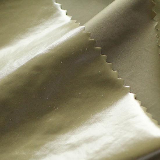 Nylon Fabric with Bright PU Coating Wr China