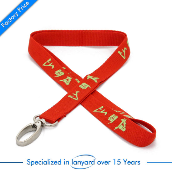 Flat Polyester Printed Mobile Phone Strap Roll Ribbon Swivel Hook pictures & photos