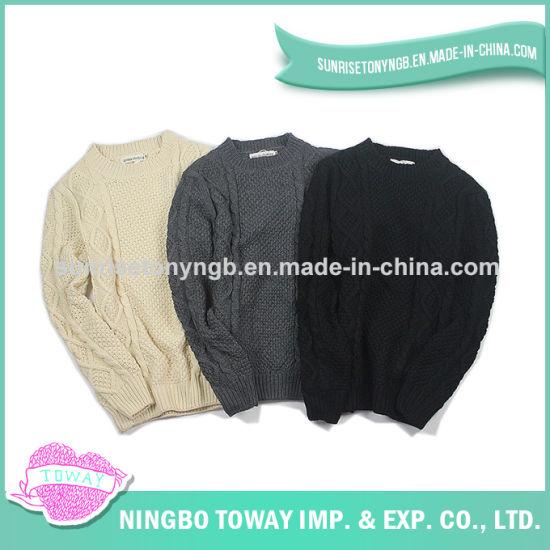 4b2f084f677b14 China Hand Knitted Yarn Fabric Design Men Cotton Sweater - China ...