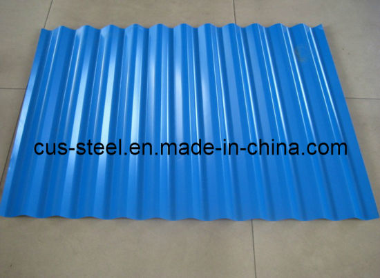 0.15 0.17 0.22 *665mm Corrugated PPGI Roof Sheet pictures & photos