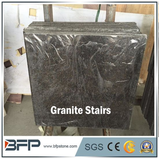 Polished Cafe Imperial Brown Granite Tread Granite Stairs Prices pictures & photos