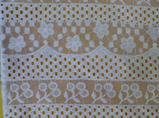 Newest Design White Soft Material Lace Fabric Embroidery for Africa Lady Dressls10031