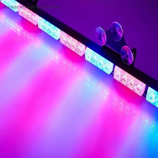 LED Warning Lights Emergency Strobe Light Bar LED Traffic Advisor Vehicle Truck Strobe Warning Flashing LED Safety Light Bar with Cigar Lighter
