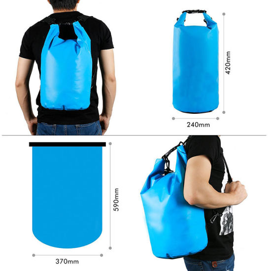 Swimming Waterproof Dry Bag Roll Top Sack With Dual Shoulder Straps For Kayaking Boating Camping
