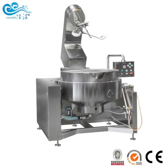 Small Industrial Commercial Gas Heated Jam Chili Sauce Cooking Machine on Hot Sale by Ce SGS Approved
