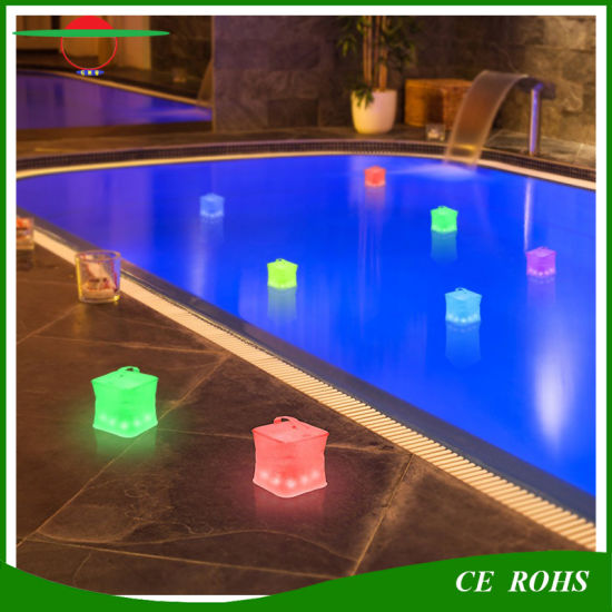 indoor swimming pool lighting. Cube Inflatable Solar Lantern IP65 10LED Swimming Pool Lights Indoor Bedroom Colorful Emergency Lamp Camping Light Lighting N