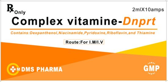 Comples Vitamin Injection Dexpanthenol Niacinamide Pyridoxine Riboflavin and Thiamine Injection