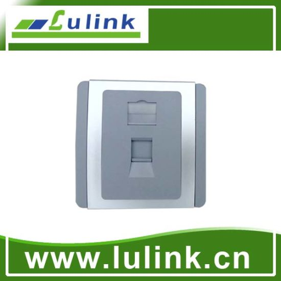 Sliver Plating Socket Single Port 86 Faceplate with RoHS