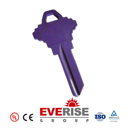Pure Copper, Nickel Plated, Zinc Alloy Door Key and Customizable Color Key