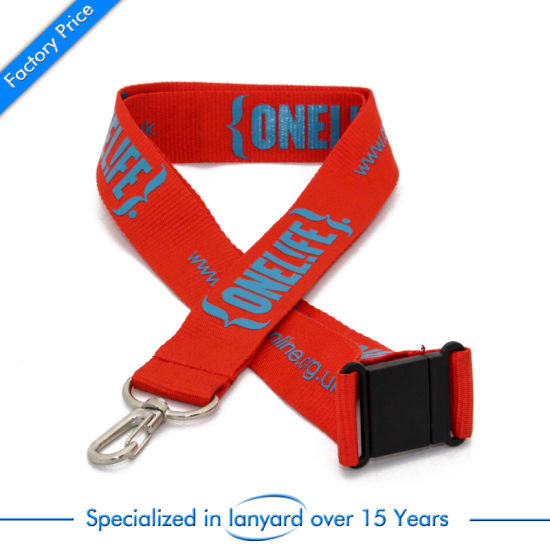 Promotional Gift Flat Polyester Neck Strap Tag Belt Screen Printed pictures & photos