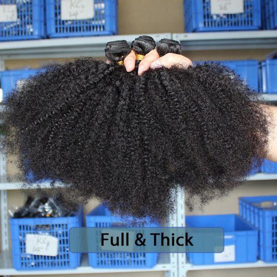 Wholesale Brazilian Hair Dubai Afro Kinky Curly Hair Weave Virgin Remy Human Hair Extensions