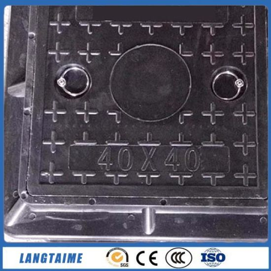 Bitumen Coating D-400 Ductile Iron BMC Manhole Cover pictures & photos