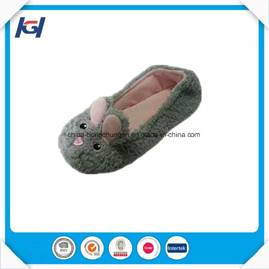 Cute Soft Warm Fleece Pig Ballet Slippers for Girls pictures & photos