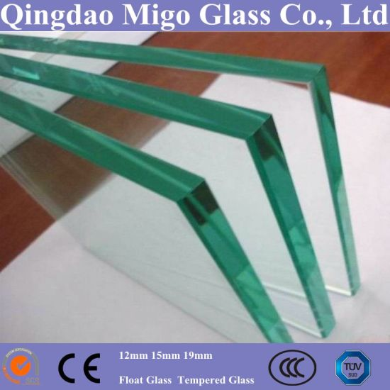 15mm Transparent Toughened Glass with Polished Edge pictures & photos