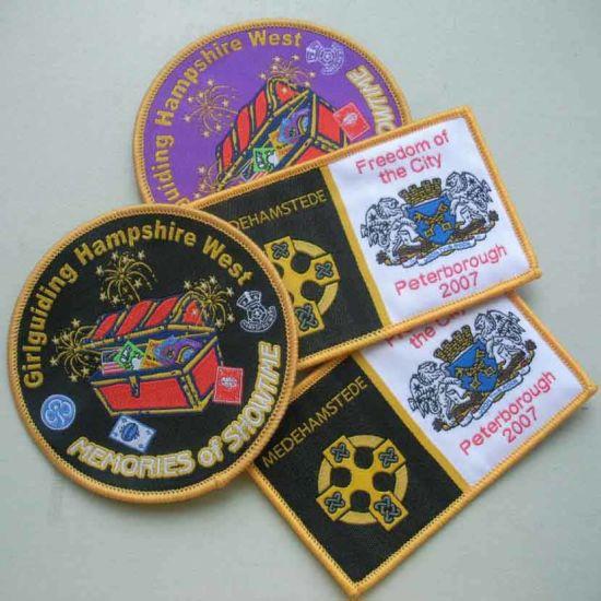 Overlocking Damask School Woven Badge