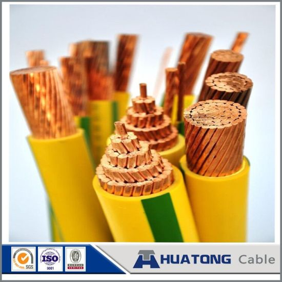 Low Voltage 450/750V Copper Conductor PVC / XLPE Insulated Yellow Green Earth Wire Electric Wire pictures & photos