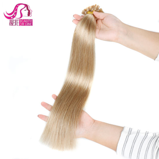 U Tip Pre-Bonded Keratin Glue Remy Real Human Hair Extensions