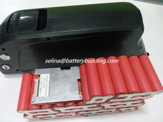 14s 52V Ebike Battery Pack Dolphin Lithium Battery Downtube Shark Pack with SANYO 3500mAh Cells by 14s4p pictures & photos