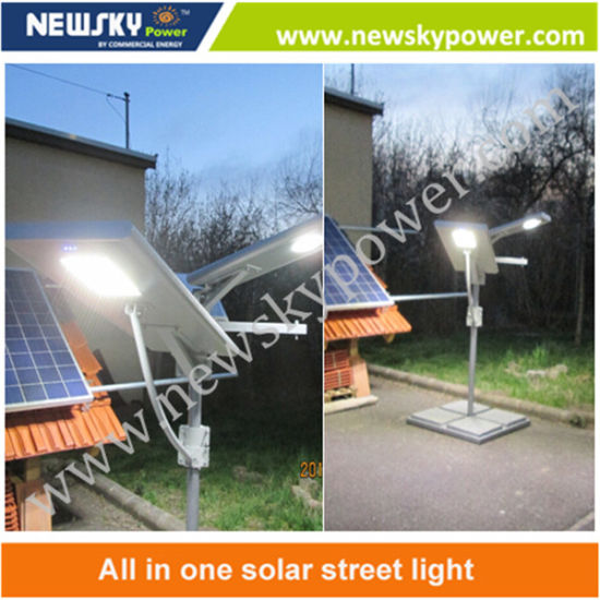60W Solar Panel Integrated All in One Solar LED Street Light pictures & photos