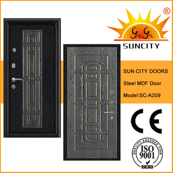Top Quality Armored Security MDF Door with Veneered (SC-A209) pictures & photos