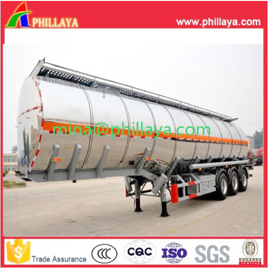 3axle Aluminum Water Milk Tank Semi Trailer pictures & photos