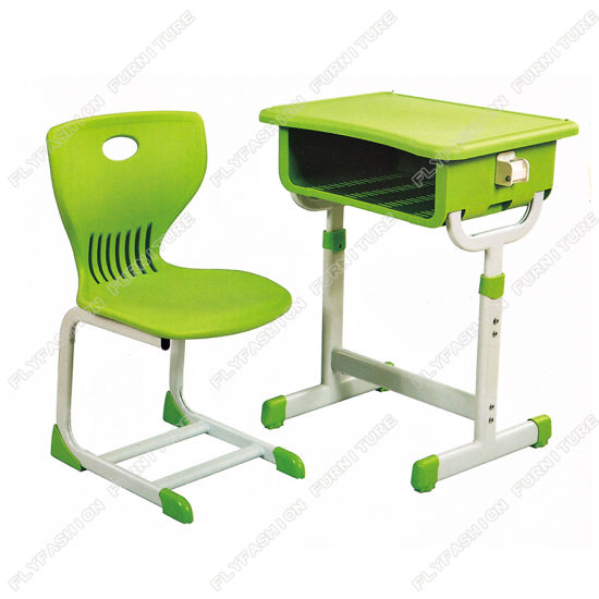 Modern Design School Furniture, Colourful Plastic Desk and Chair with Competitive Price Sf-15s
