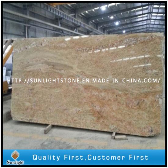 India Kashmir Gold Granite Slabs for Tiles/Countertops/Vanity Tops