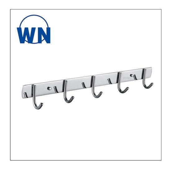Modern Style Heavy Duty Wall Mount Chrome 304 Stainless Steel Towel Hook Single Robe Hook Coat Hook for Bathroom Kitchen Garage