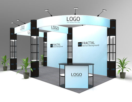 Exhibition Booth Reference : China m reused tension fabric folding column trade show