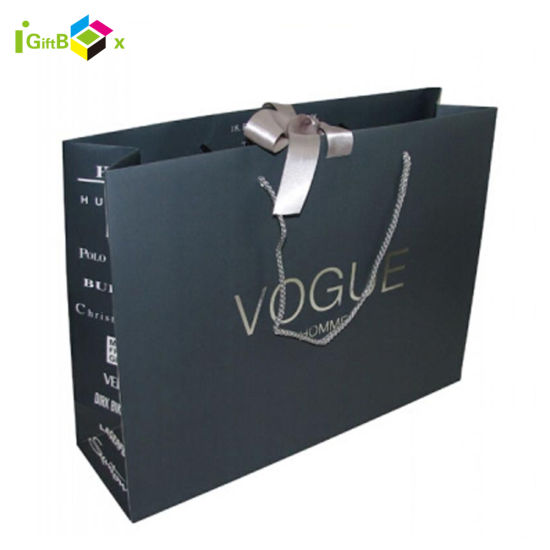 Custom Printed Drawstring Shoe Packaging Paper Bags
