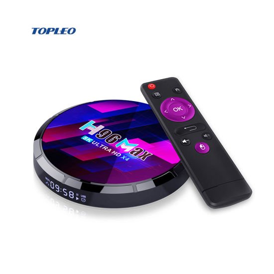 H96 Max X4 Amlogic S905X4 Transpeed Internet Dual WiFi 8K HD Android 10 TV Box for International Channels