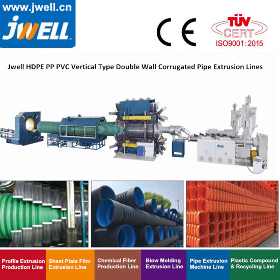 Jws 90/33 75/33 120/33 80/156 92/188 Double Single Wall Corrugated Pipe Extrusion Extruder Machine