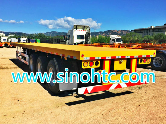 container trailer, Factory Price Tri-Axle 40FT flatbed trailer pictures & photos