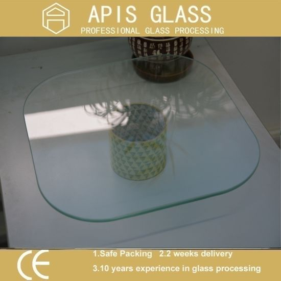 6mm/8mm/10mm/12mm Square Table Top Tempered Glass With Polished Edges