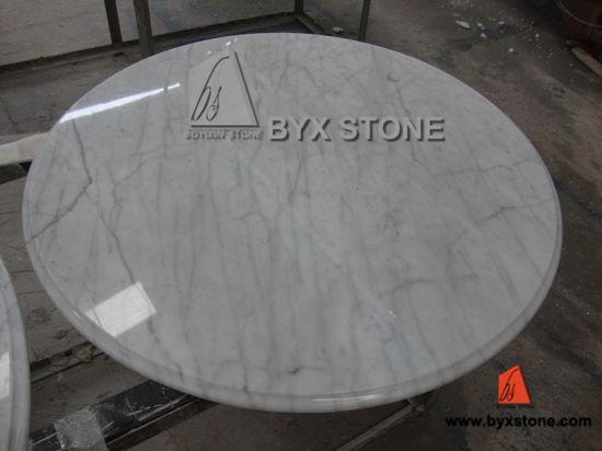 Italian Carrara White Marble Table Top For Houses