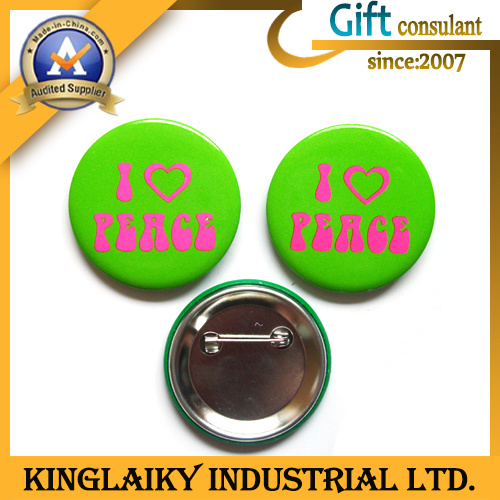 Souvenir Tin Badge with Logo for Promotional Gift (KBG-001)