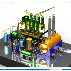 Pollution Free Distillation Plant for Sludge Oil pictures & photos
