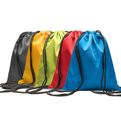 Custom Printing Logo Polyester Gym Backpack Promotional Eco Friendly Sport Drawstring Bags