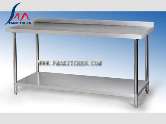 China Stainless Steel Table With Back Splash Under Shelf Inspiration Stainless Steel Work Table With Backsplash Design