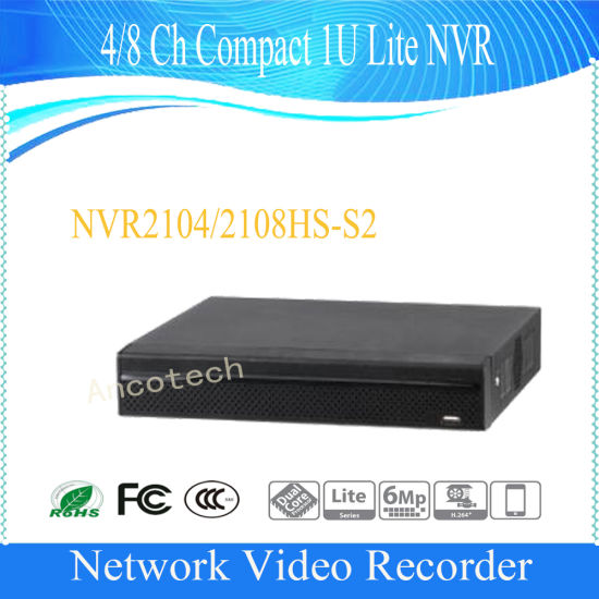 8-CH Compact 1U Lite Network Video Recorder NVR DAHUA NVR2108HS-S2 ..
