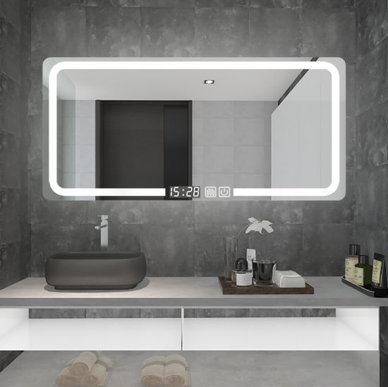 Wholesale Modern Hotel Illuminated Lighted LED Bathroom Vanity Smart Mirror with Defogger