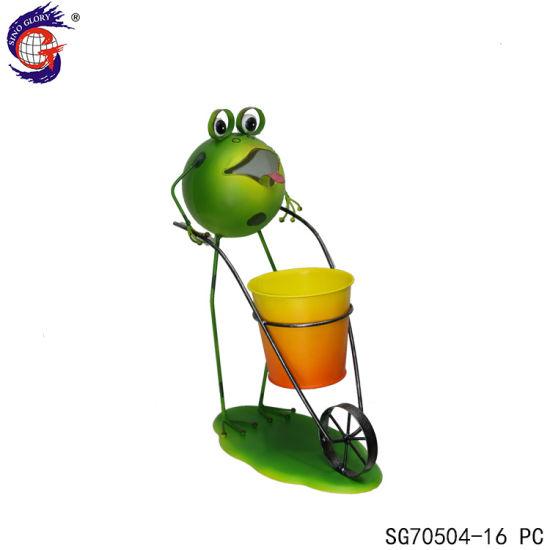 Custom Design Tongue Frog Cart Shape Flower Pot