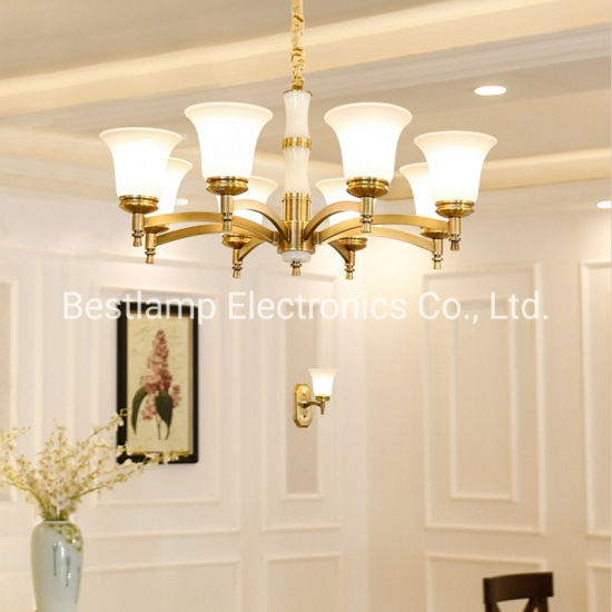 Hot Sale Modern Brush Brass Living Room Hanging Pendant Lamp