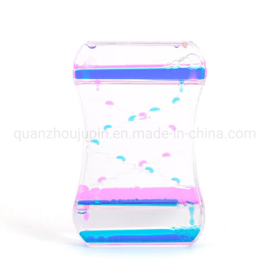 OEM Creative Acrylic Colorful Oil Droplets Ladder Liquid Timing Hourglass pictures & photos