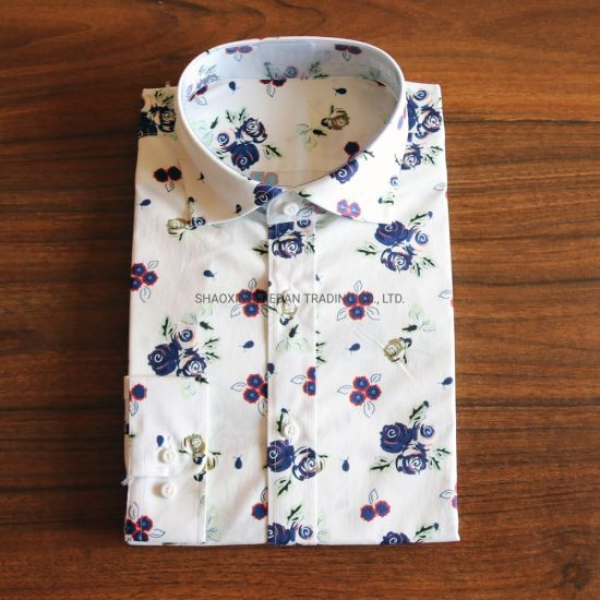 Floral Print Cotton Elastane Shirt