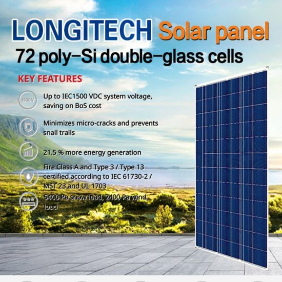 Solar Panel 72 Poly-Si Double-Glass Cells