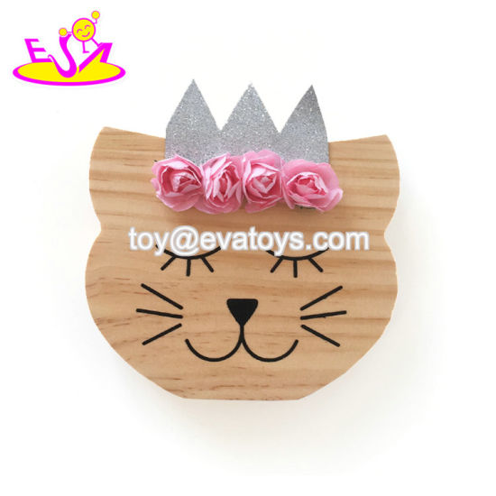 High Quality Wooden Toddler Room Decor with Cat Shape W02A364