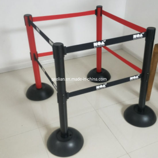 Airport Pole Stanchion Velvet Rope Barrier Crowd Control Stanchions and Ropes pictures & photos